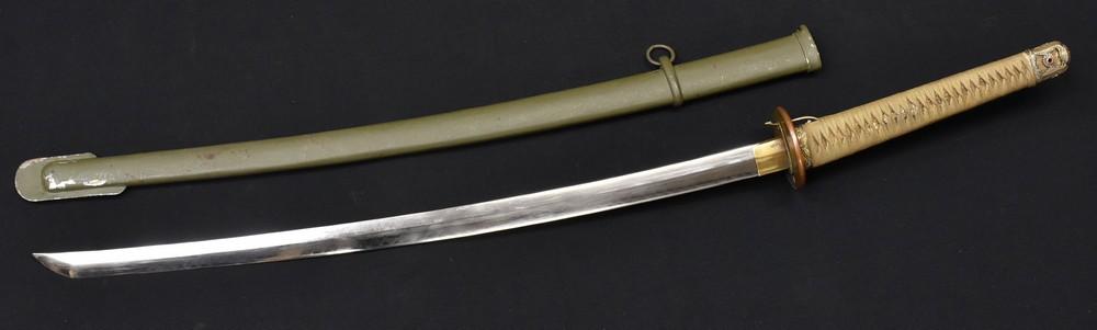Lot 3037 - A Japanese World War Two period shin gunto sword , 66.