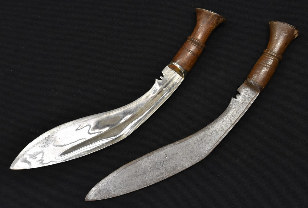 Lot 3039 - A large kukri, of ang khola form; another,