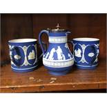 Wedgwood Jasperware tygs and one other