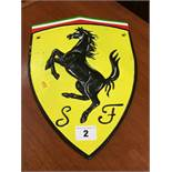 Cast Ferrari sign