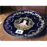 Enamelled Murano plate