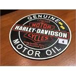 Cast Harley Davidson sign