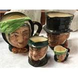 Various Royal Doulton Toby jugs