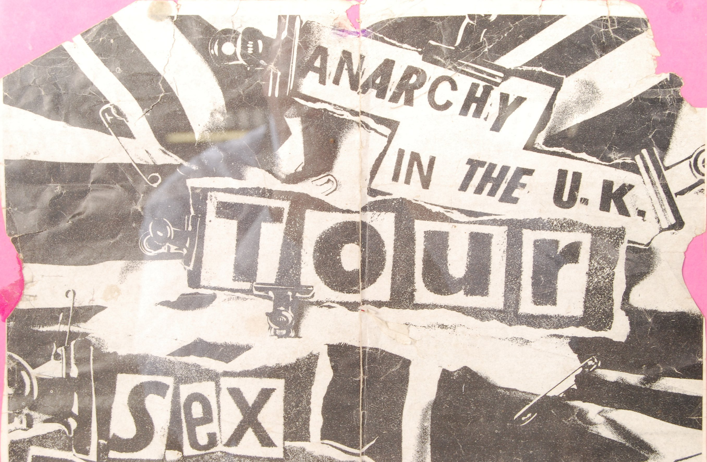 Lot 7 - RARE ORIGINAL SEX PISTOLS ANARCHY IN THE UK 1976 TOUR POSTER