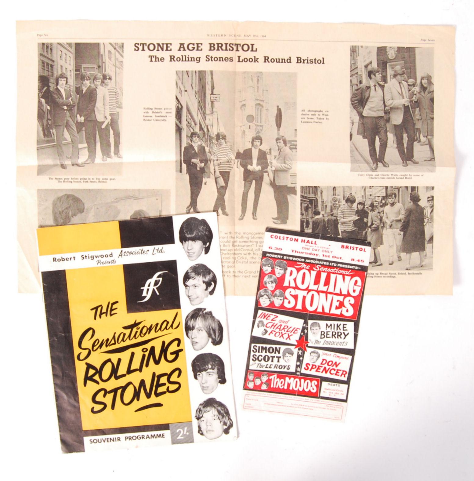 Lot 9 - RARE ORIGINAL VINTAGE ROLLING STONES 1964 FIRST UK TOUR EPHEMERA