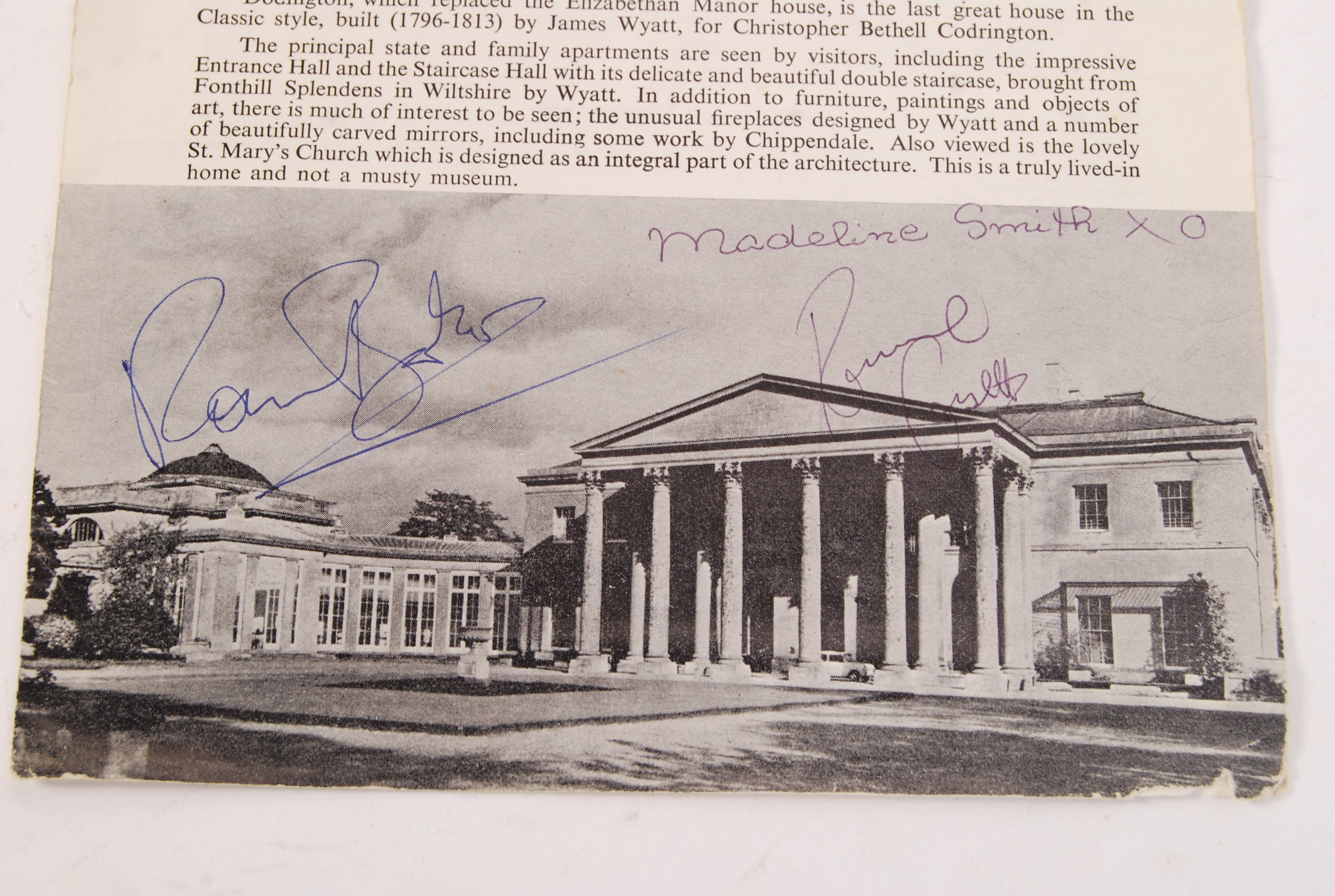 Lot 20 - TWO RONNIES AUTOGRAPH COLLECTION - OBTAINED WHILST FILMING SERIAL