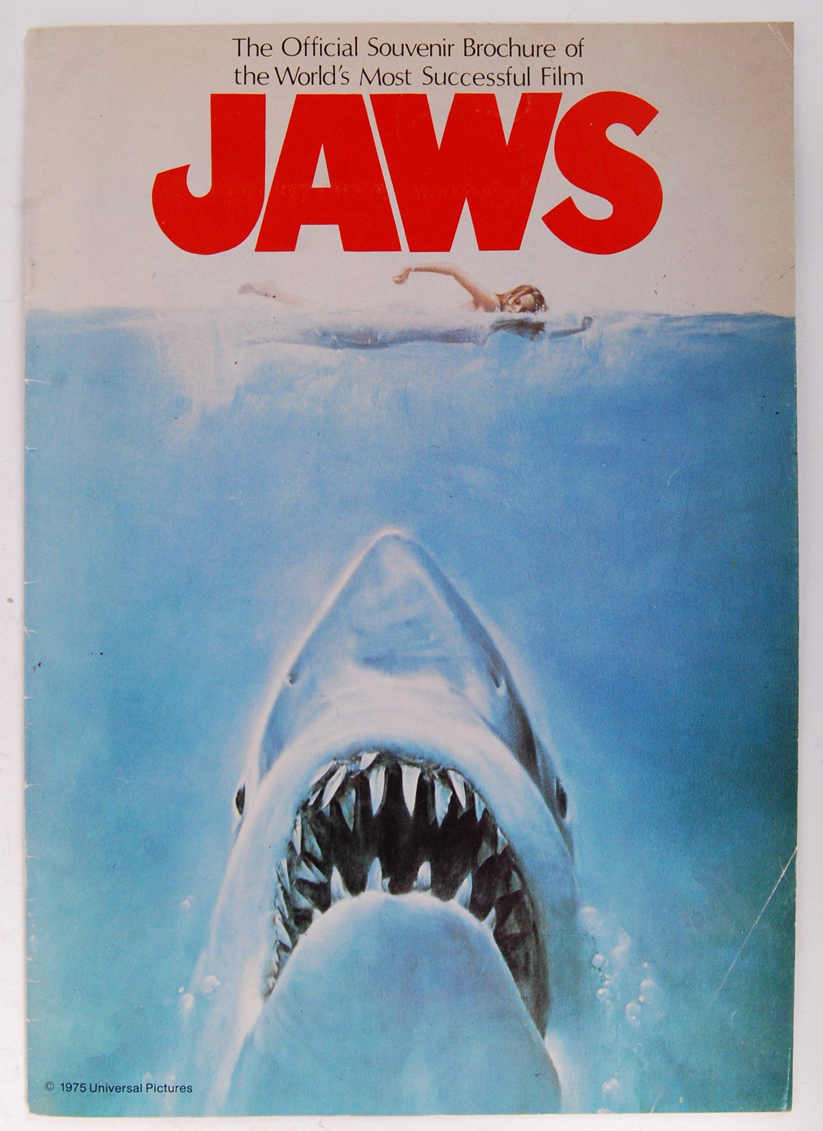 Lot 13 - JAWS - OFFICIAL SOUVENIR BROCHURE - CINEMA ADVERTISING EPHEMERA