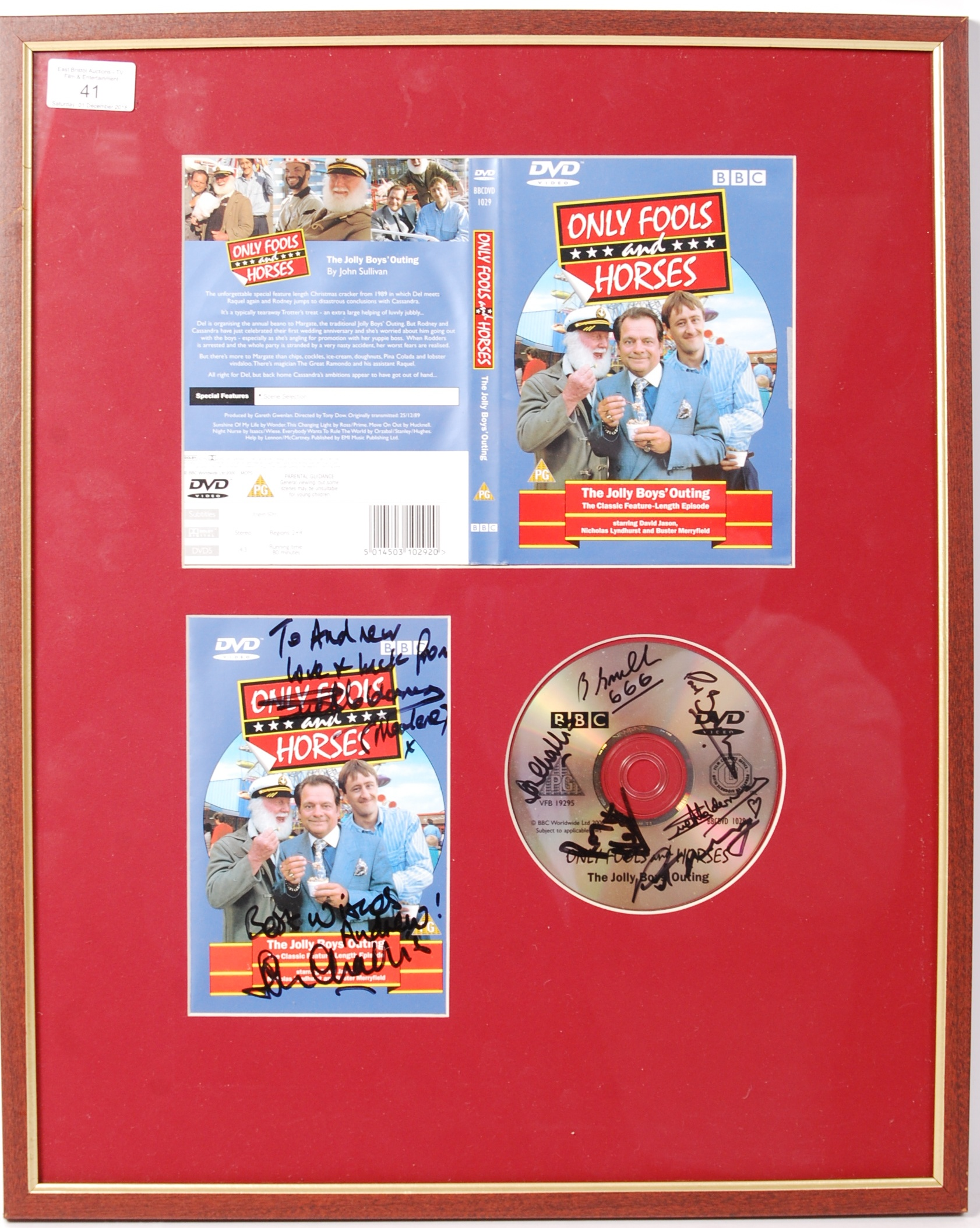 Lot 41 - ONLY FOOLS & HORSES SIGNED DVD PRESENTATION