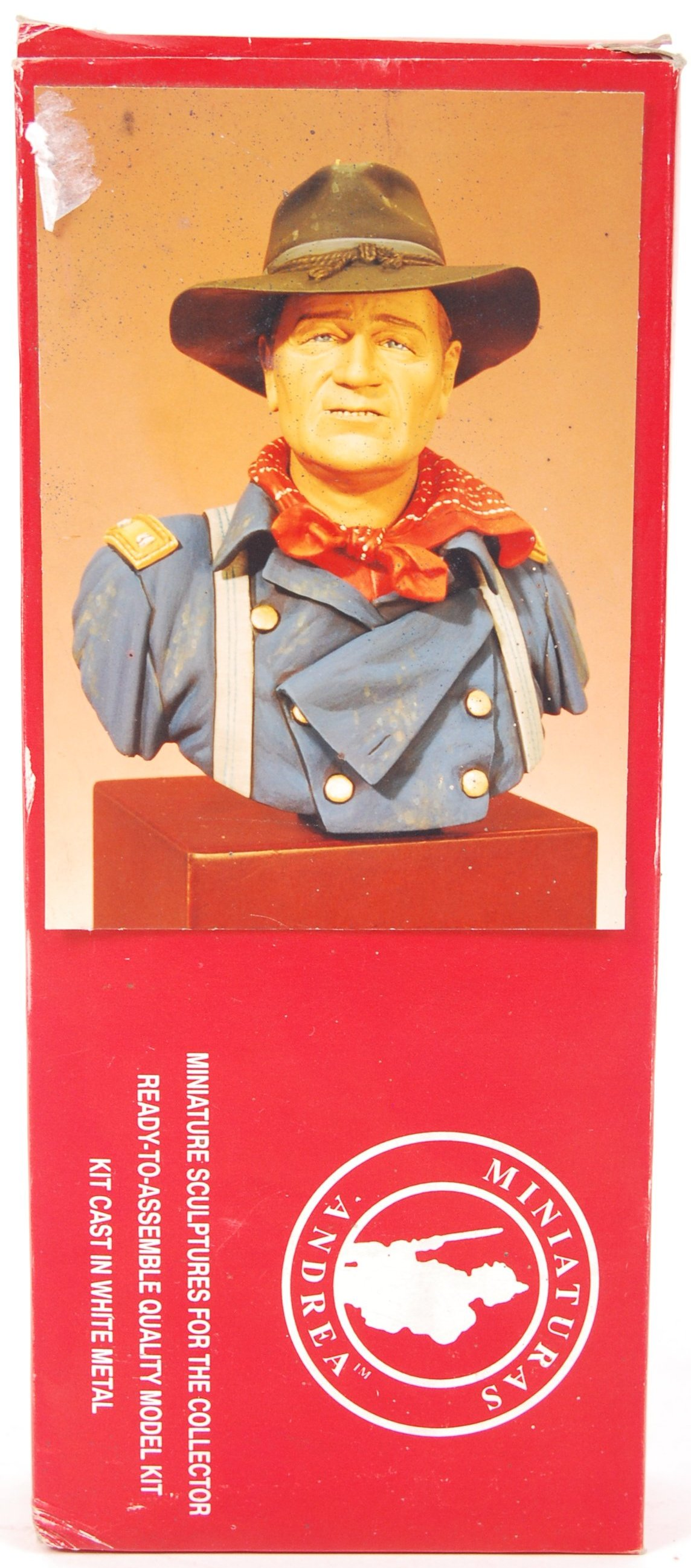 Lot 32 - ANDREA MINIATURES MADE 1:8 SCALE MODEL KIT BUST OF JOHN WAYNE