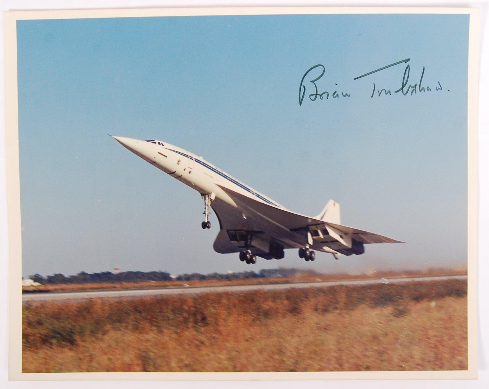 Lot 42 - BRIAN TRUBSHAW - CONCORDE TEST PILOT - SIGNED PUBLICITY PHOTOGRAPH