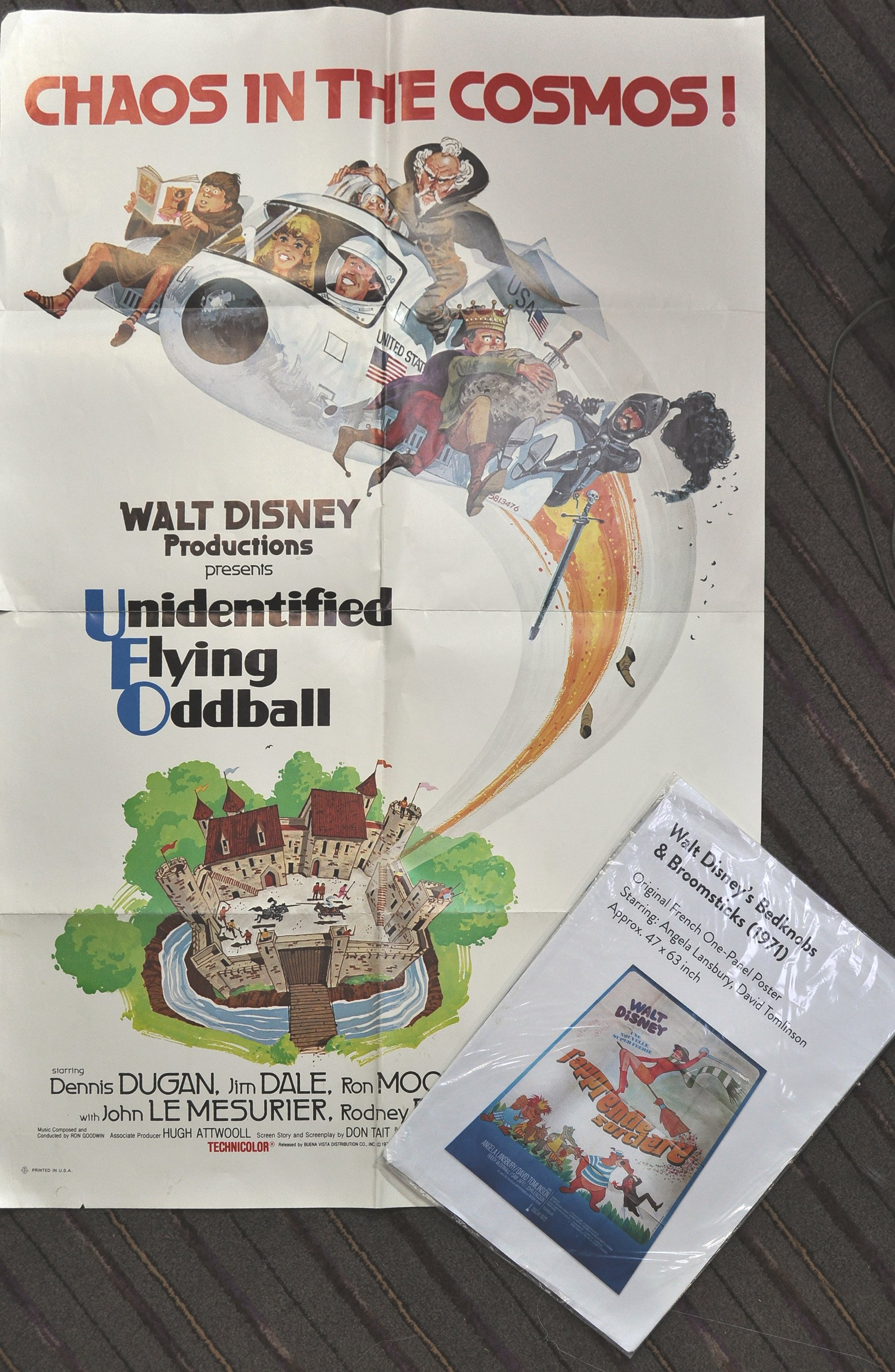 Lot 17 - TWO WALT DISNEY MOVIE CINEMA ADVERTISING FILM POSTERS