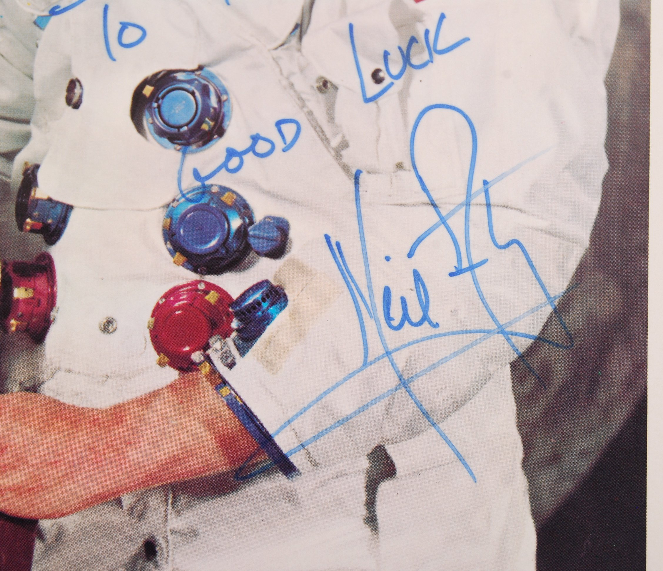 Lot 5 - INCREDIBLY RARE NEIL ARMSTRONG FIRST MAN ON THE MOON AUTOGRAPHED PHOTO
