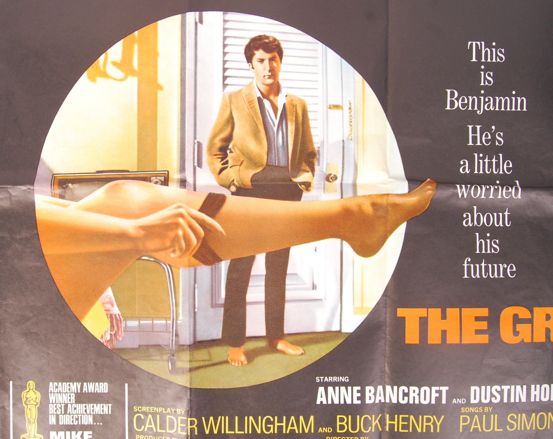 Lot 48 - ' THE GRADUATE ' AA CERTIFICATE ORIGINAL UK QUAD CINEMA MOVIE POSTER