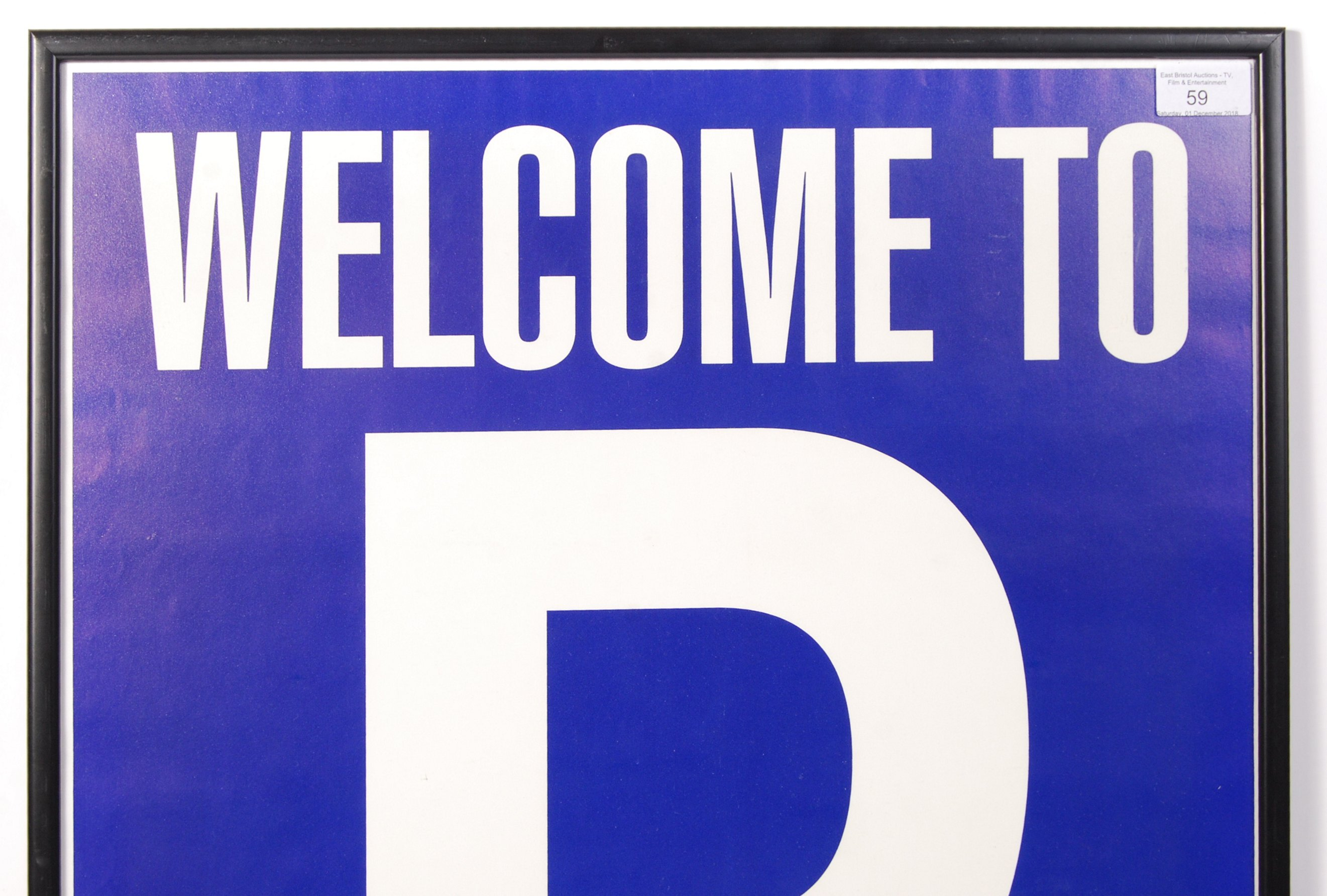 Lot 59 - ' WELCOME TO PORTISHEAD ' PROMOTIONAL MUSIC POSTER