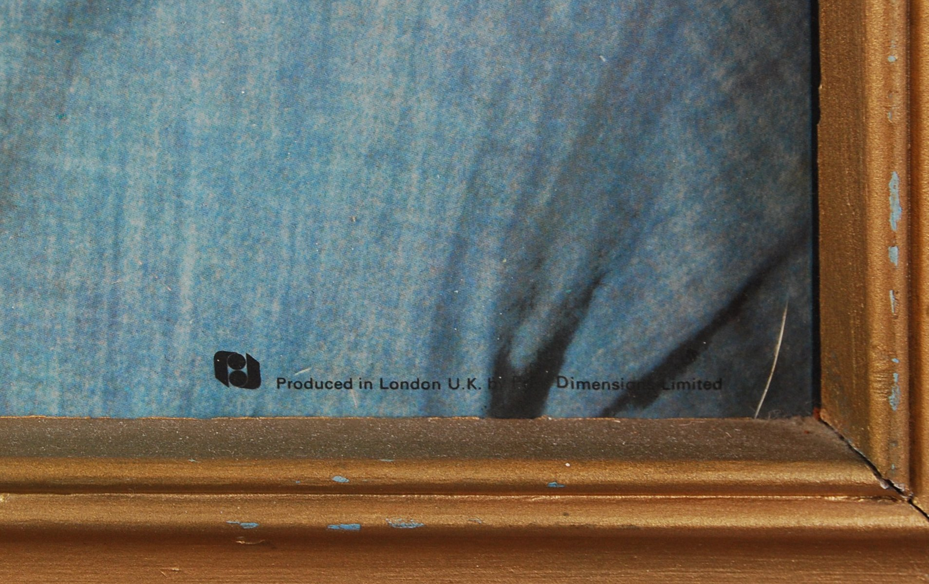 Lot 47 - VINTAGE ELVIS PRESLEY 3D WALL PORTRAIT PRINT FRAMED