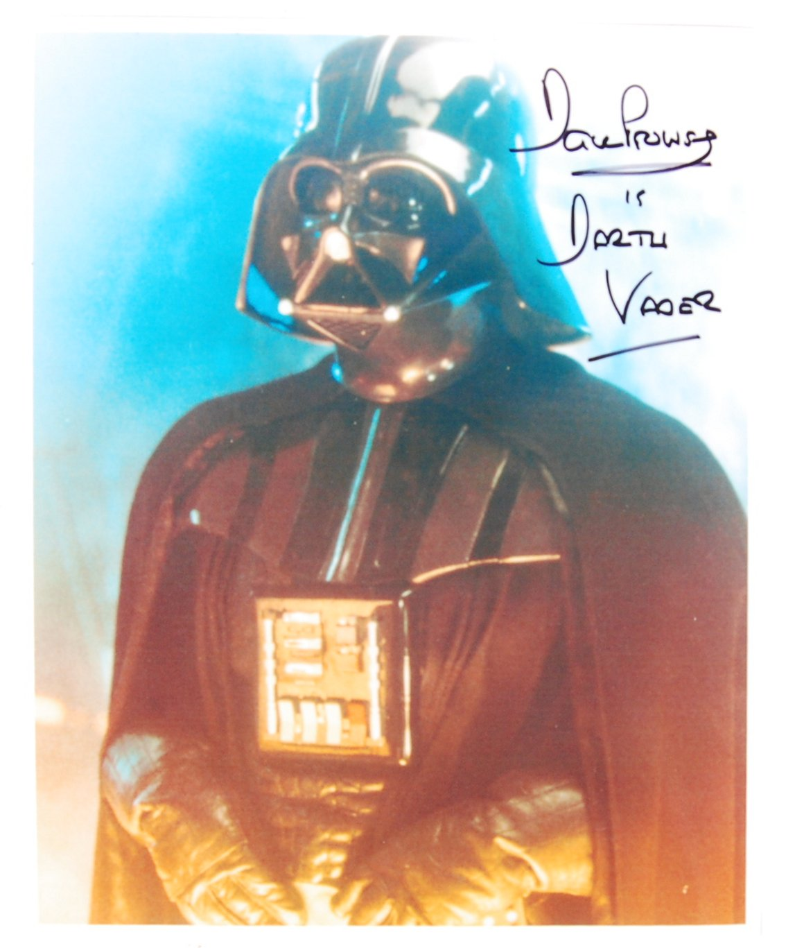 Lot 14 - STAR WARS - DAVID PROWSE - DARTH VADER AUTOGRAPHED PHOTO