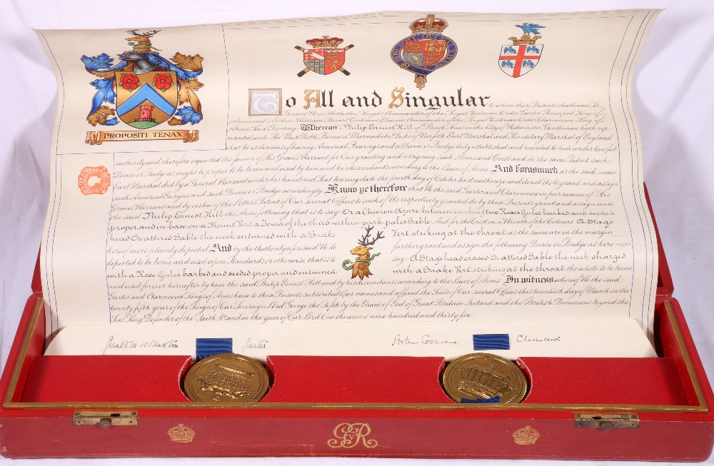 Lot 234 - George V Grant of Arms to Philip Ernest