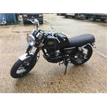 Mash Black 7 125 motorcycle VIN: LV7LB5401KC001882, Unregistered and no certificate of conformity