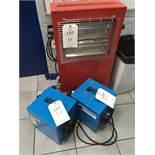 Three electric heaters