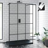 (DD10) 1200mm Shoji Crittall Black Walk In Shower Screen. RRP £499.99. Invest in the exclusive...