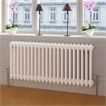 (DD21) 600x1188mm White Double Panel Horizontal Colosseum Traditional Radiator. RRP £524.99. C...