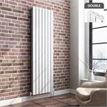 (DD22) 1800x608mm Gloss White Double Flat Panel Vertical Radiator. RRP £549.99. Made from high...