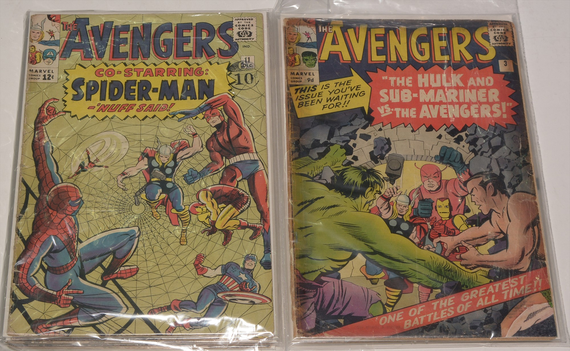 The Avengers No's. 3, 5, 11, 13, 14, 17 and 18