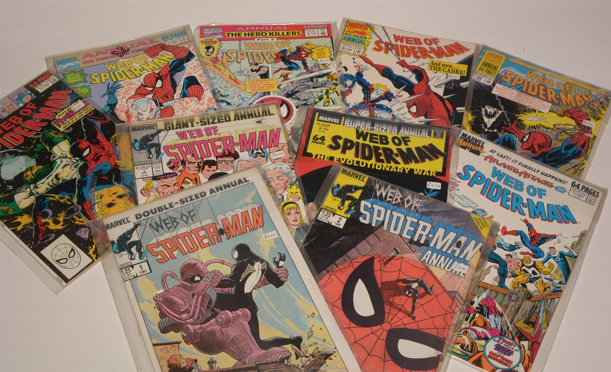 Web of Spider-Man No's. 1, 2, 3, 4, 6 and a large quantity of subsequent issues, highest number 125, - Image 2 of 2