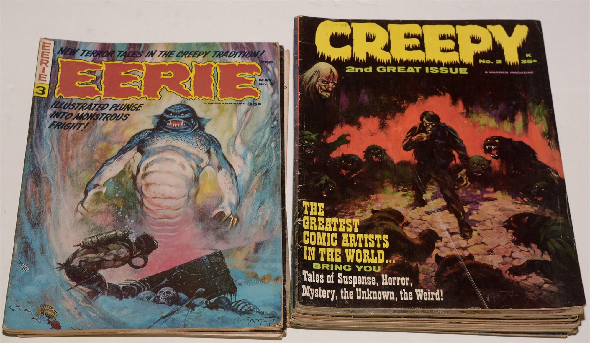 Eerie and Creepy comics.