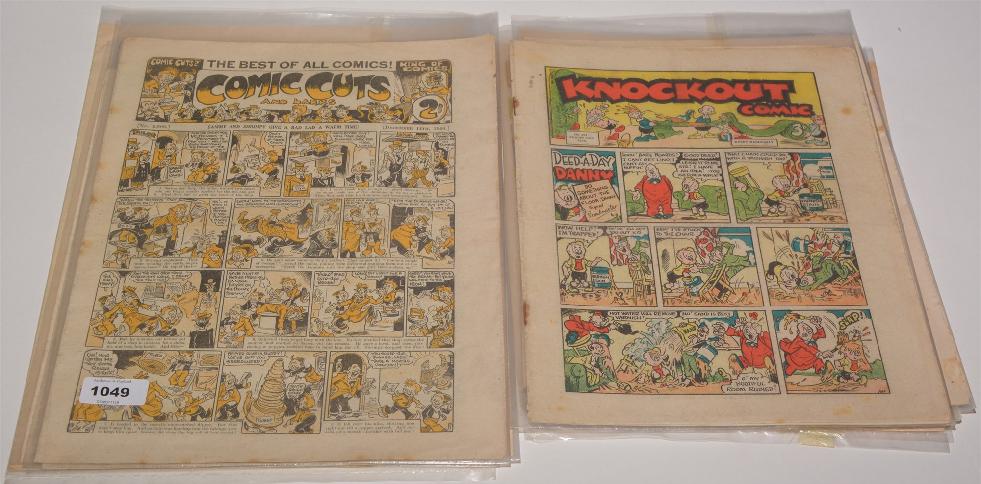 Mid 20th Century British comics, including Comic Cuts 1946-52 (x4); Knockout Comic 1946-54 (x7). ( - Image 2 of 2