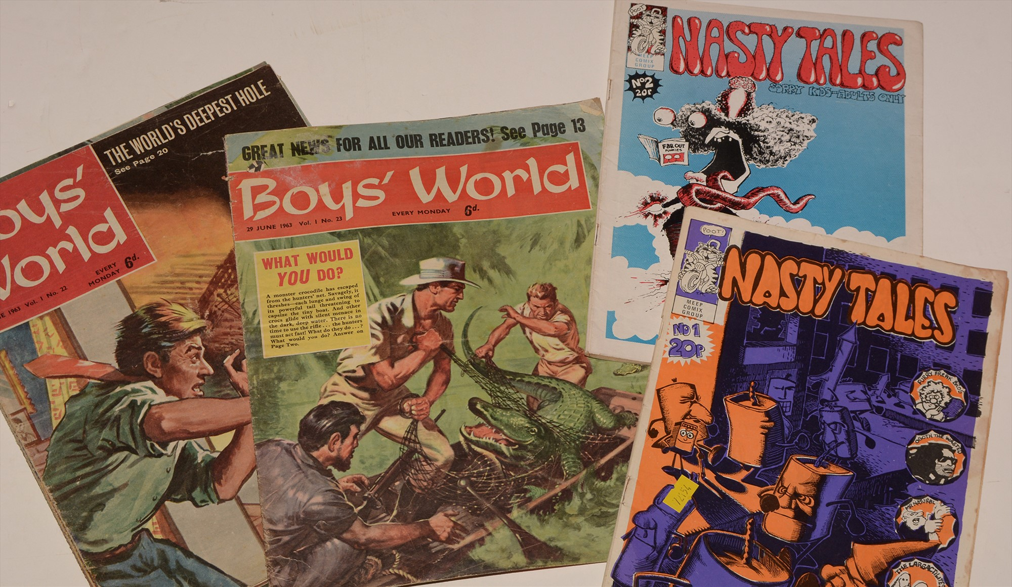 Boys' World and Nasty Tales.