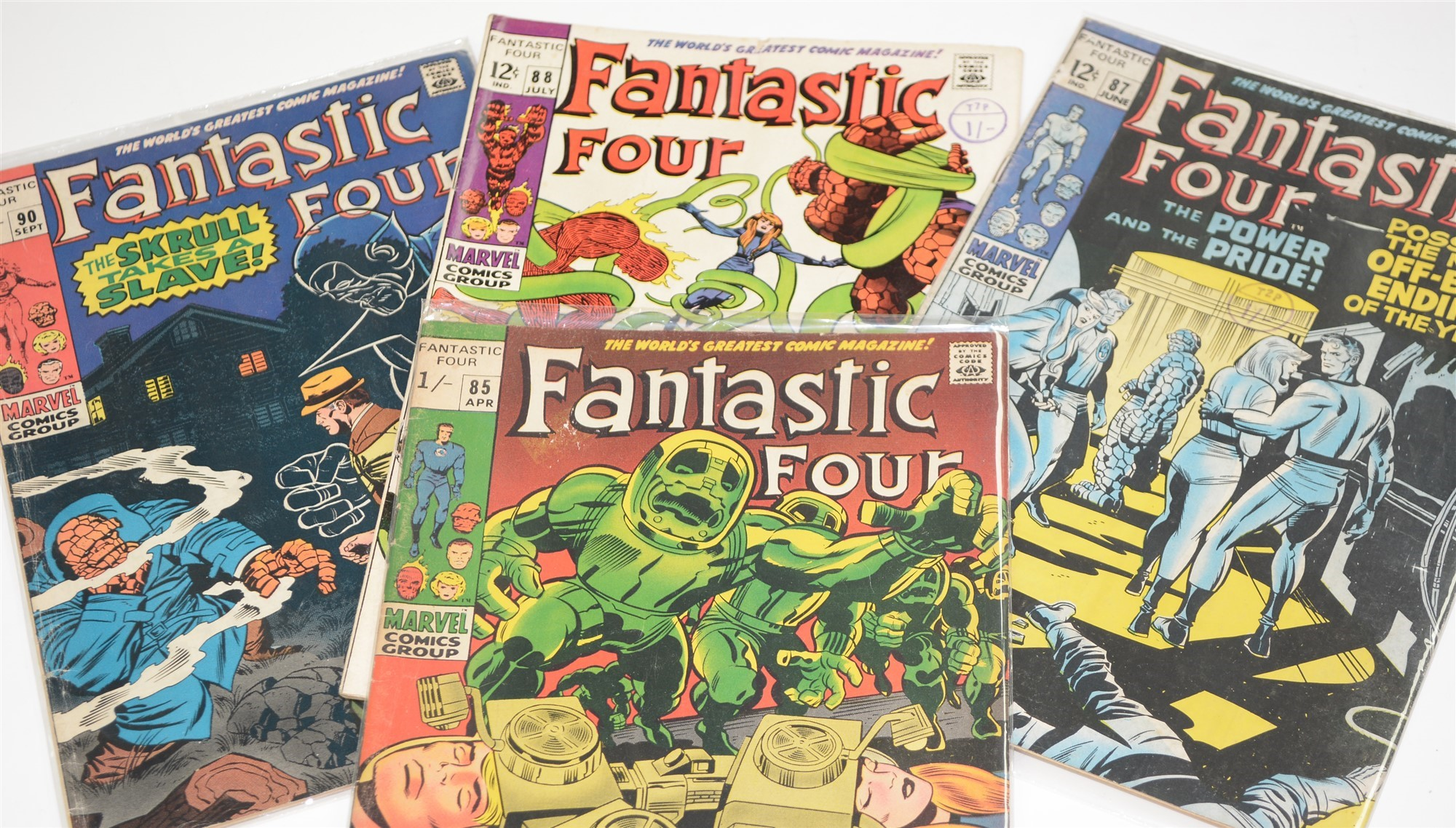 Fantastic Four No's. 60, 68, 77, 85, 87, 88, 90, 91, 92, 93 and 94. - Image 3 of 4