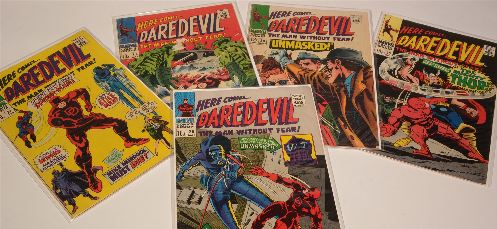 Daredevil No's. 9, 10 11 & 26-30 inclusive / Daredevil King-Size and Giant-Size Comics; and 64-Page - Image 2 of 3