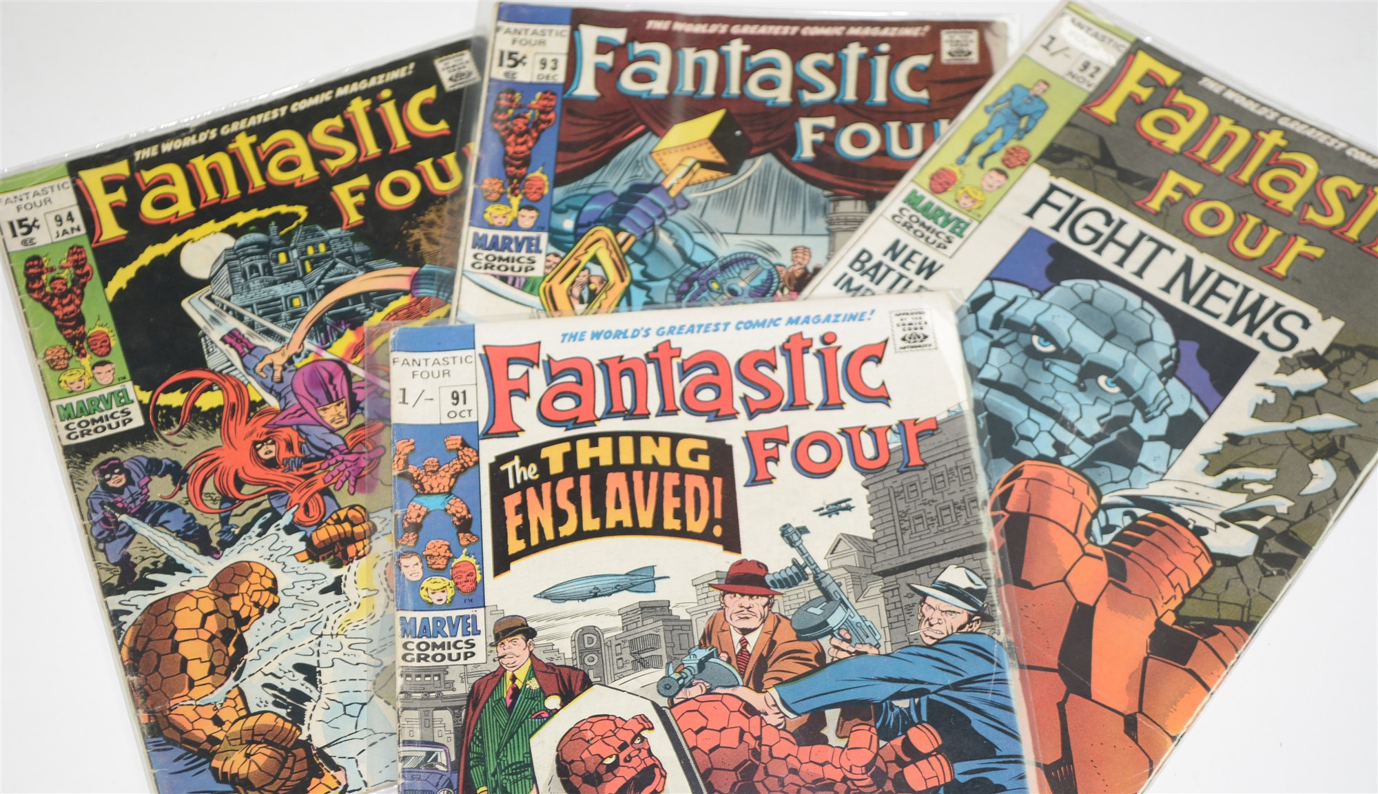 Fantastic Four No's. 60, 68, 77, 85, 87, 88, 90, 91, 92, 93 and 94. - Image 4 of 4