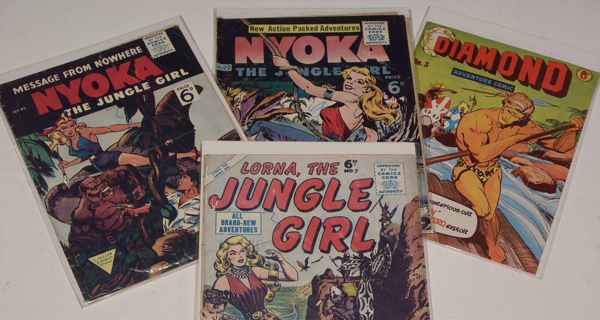 Lorna The Jungle Girl and other comics