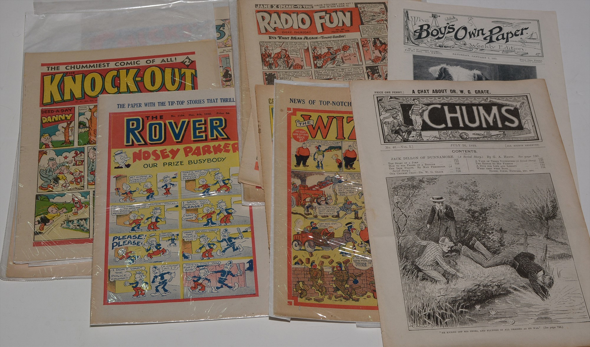 A small collection of early British comics
