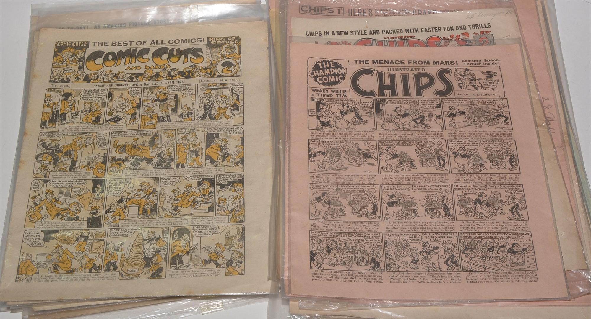 Mid 20th Century British comics, including Comic Cuts 1946-52 (x4); Knockout Comic 1946-54 (x7). (