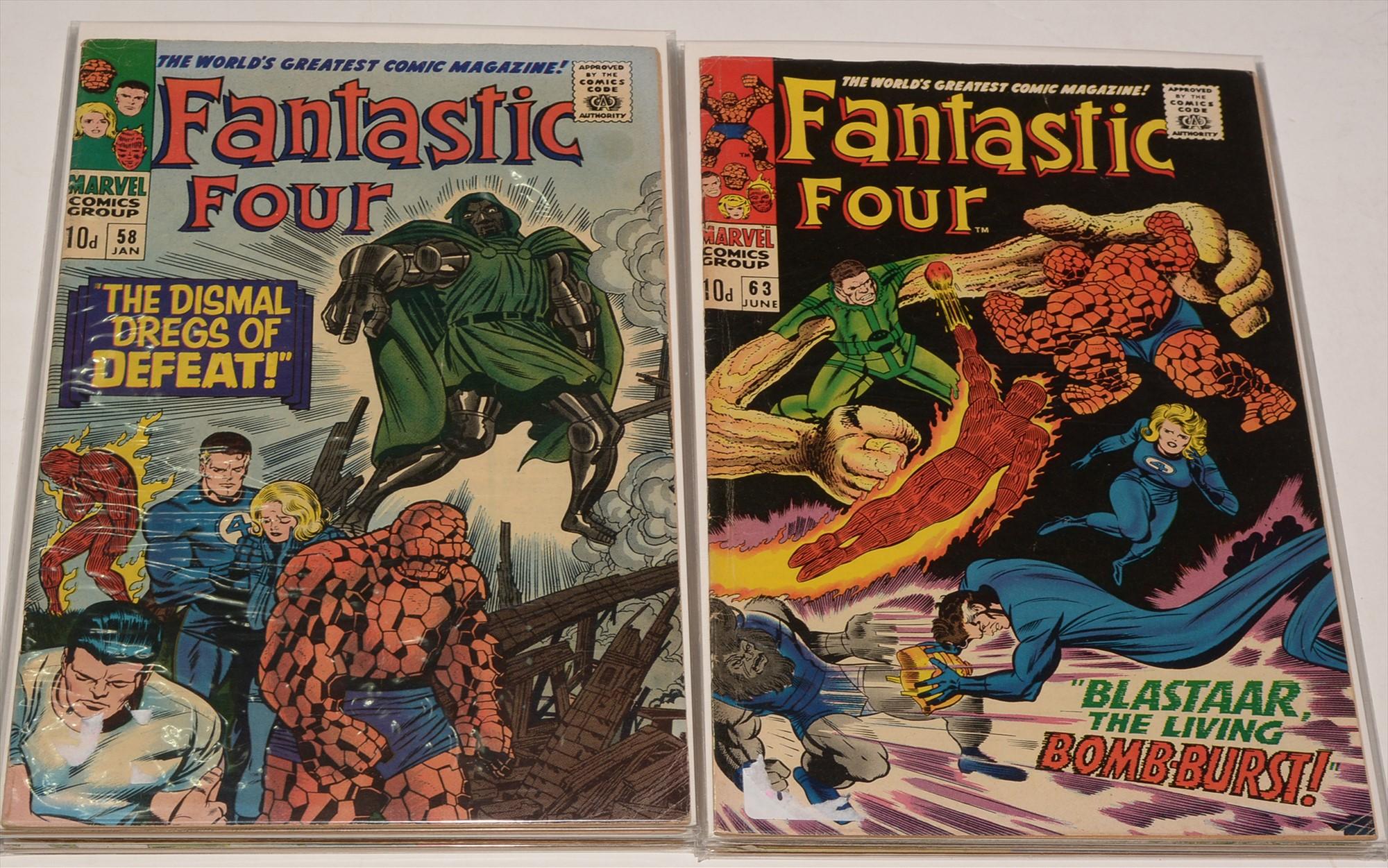 Fantastic Four No's. 58-66 inclusive comics.