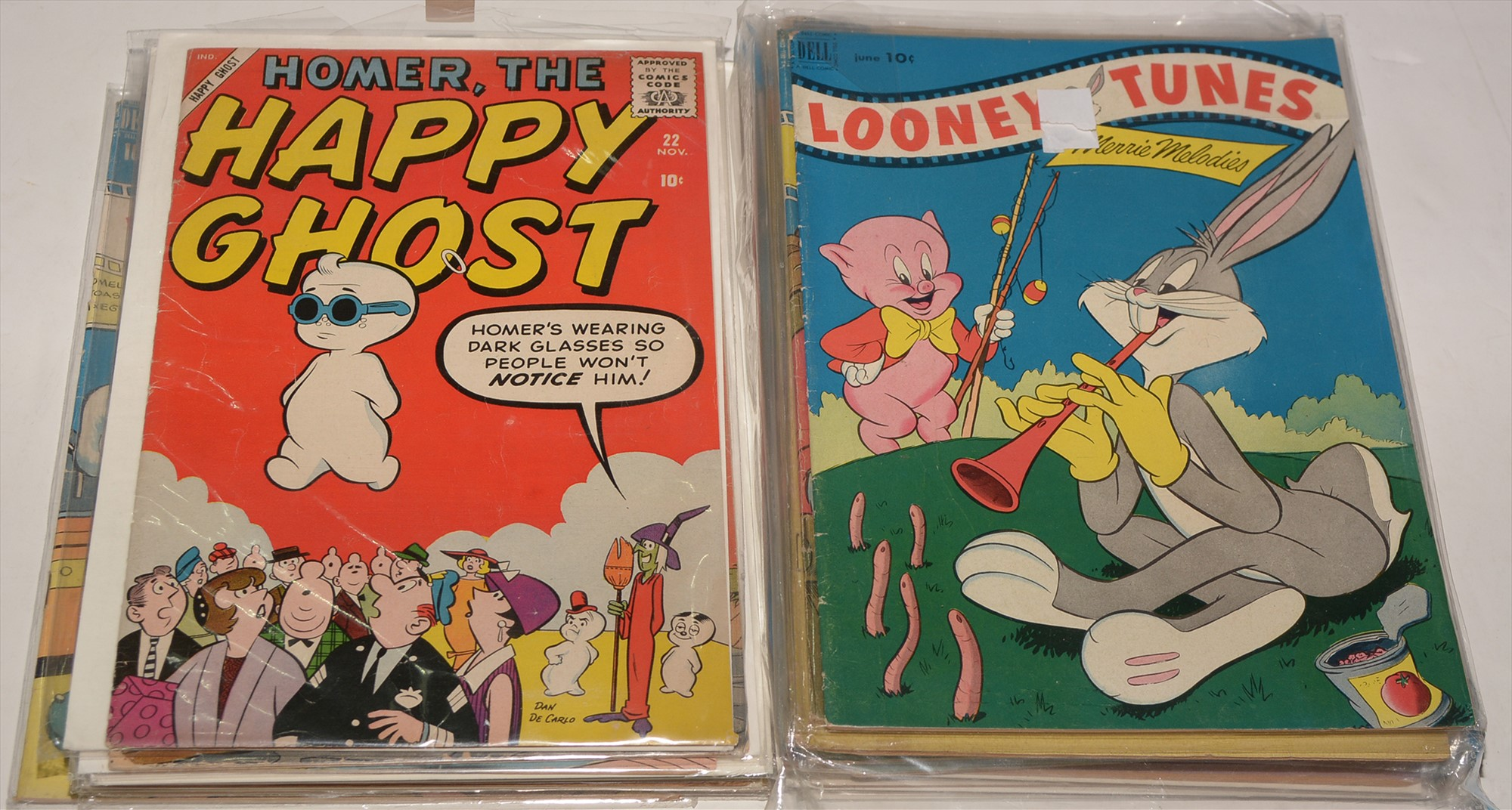 Dell Comics, humour titles including: Road Runner, Daffy and Looney Tunes: and New Funnies Woody