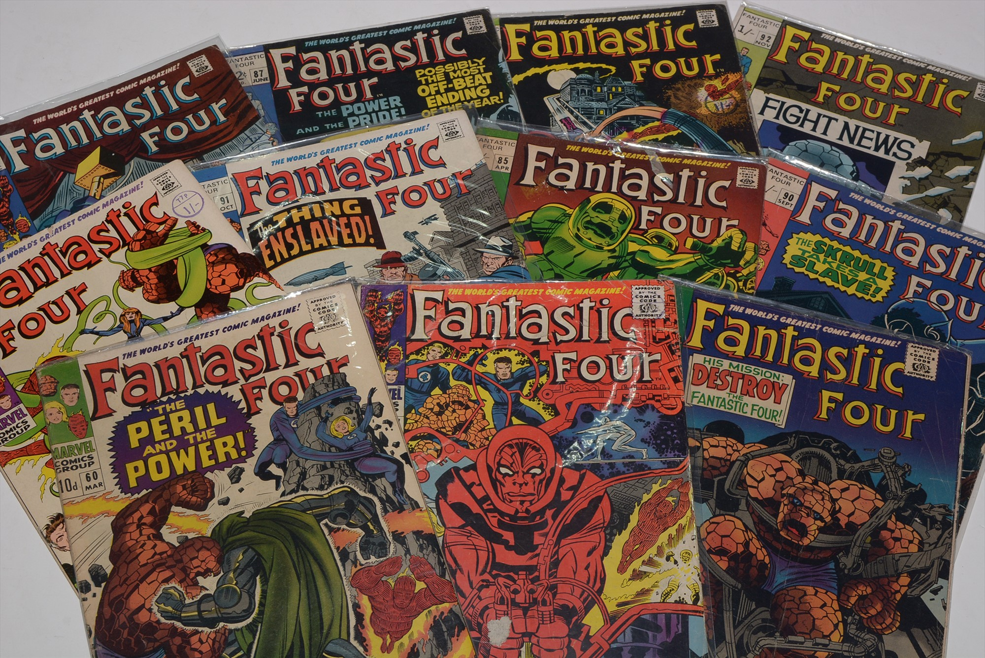 Fantastic Four No's. 60, 68, 77, 85, 87, 88, 90, 91, 92, 93 and 94.