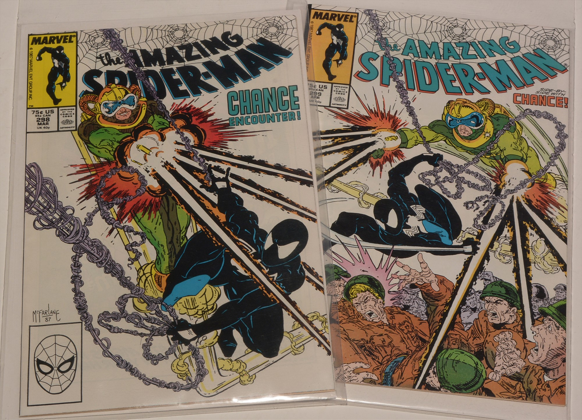Amazing Spider-Man No's. 298 and 299.