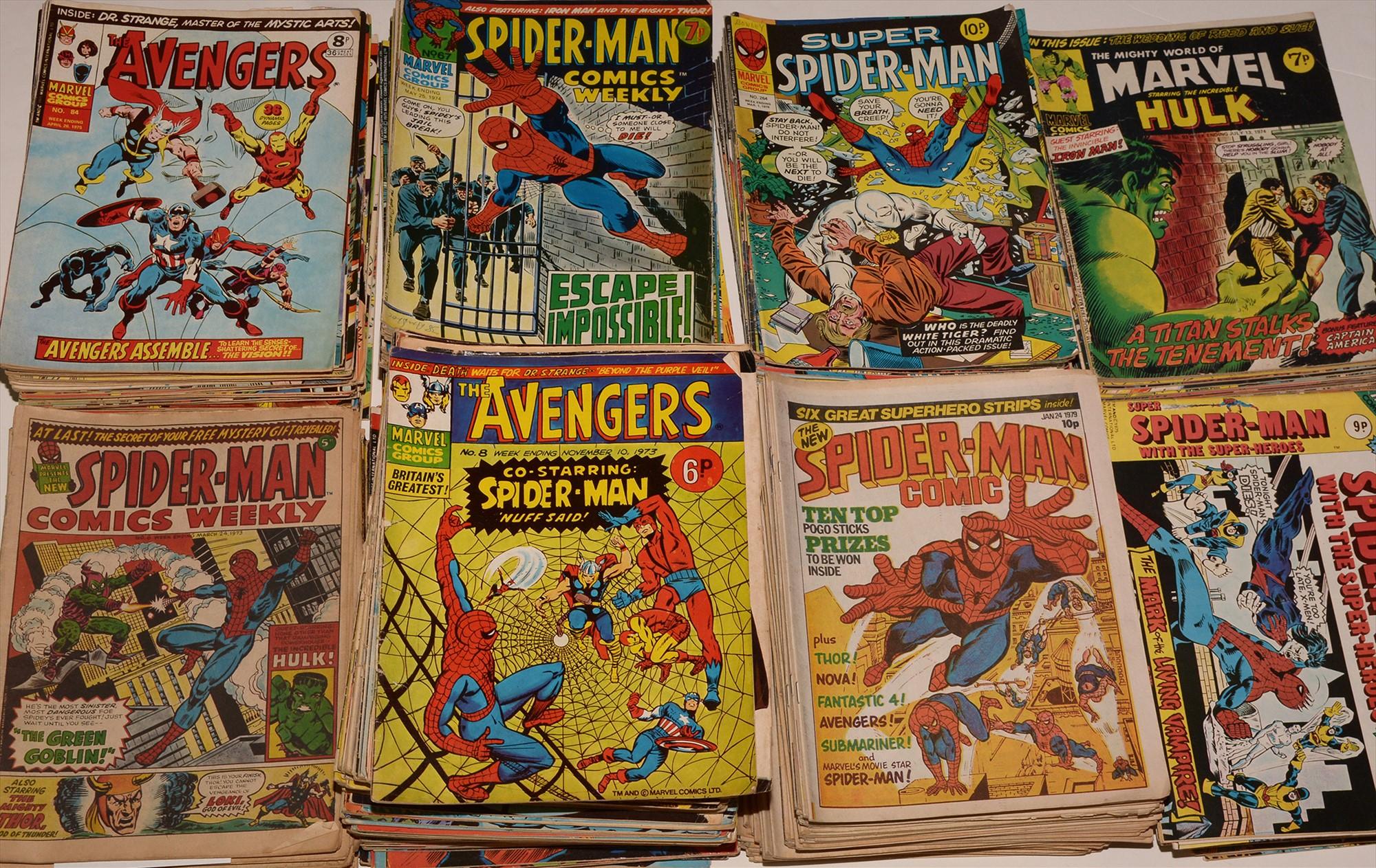 Large quantity of 1970's issue comics.