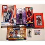 DC Comics/Kotobukiya Catwoman statue; and sundry other items