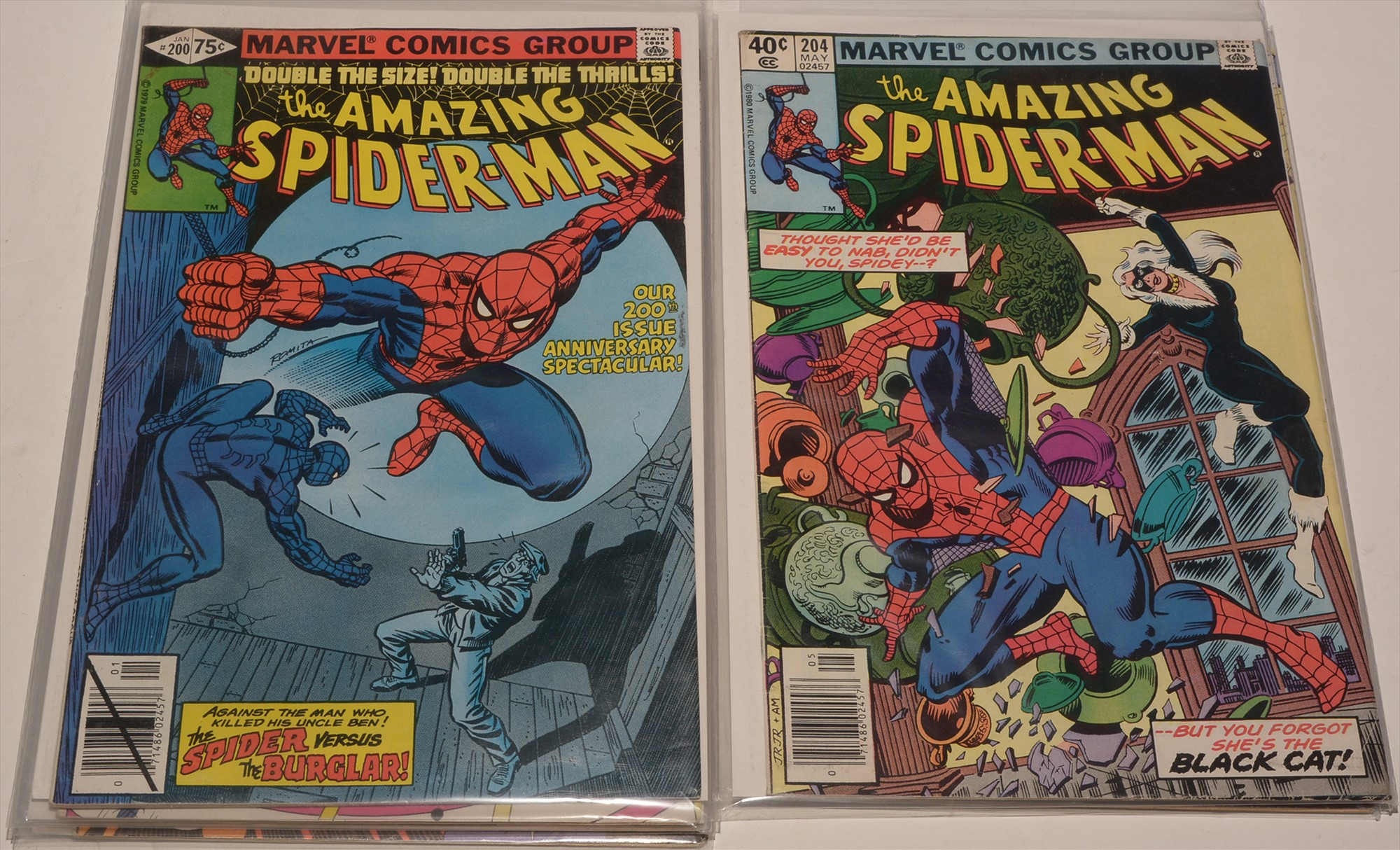Amazing Spider-Man No's, 200, 201, 202, 203, 204, 205 and 207