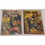 Cowboy Action No. 8, and Kid Slade Gunfighter No's. 5 and 7 (Atlas Comics) and Wild Western Comic