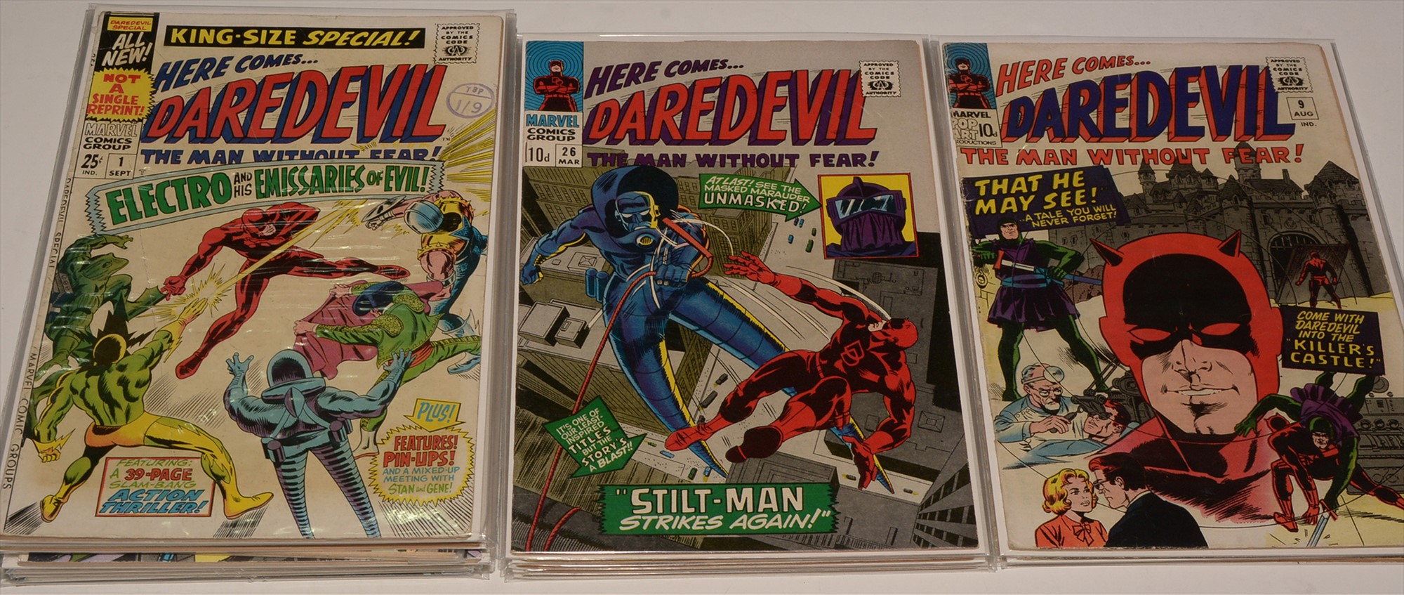 Daredevil No's. 9, 10 11 & 26-30 inclusive / Daredevil King-Size and Giant-Size Comics; and 64-Page