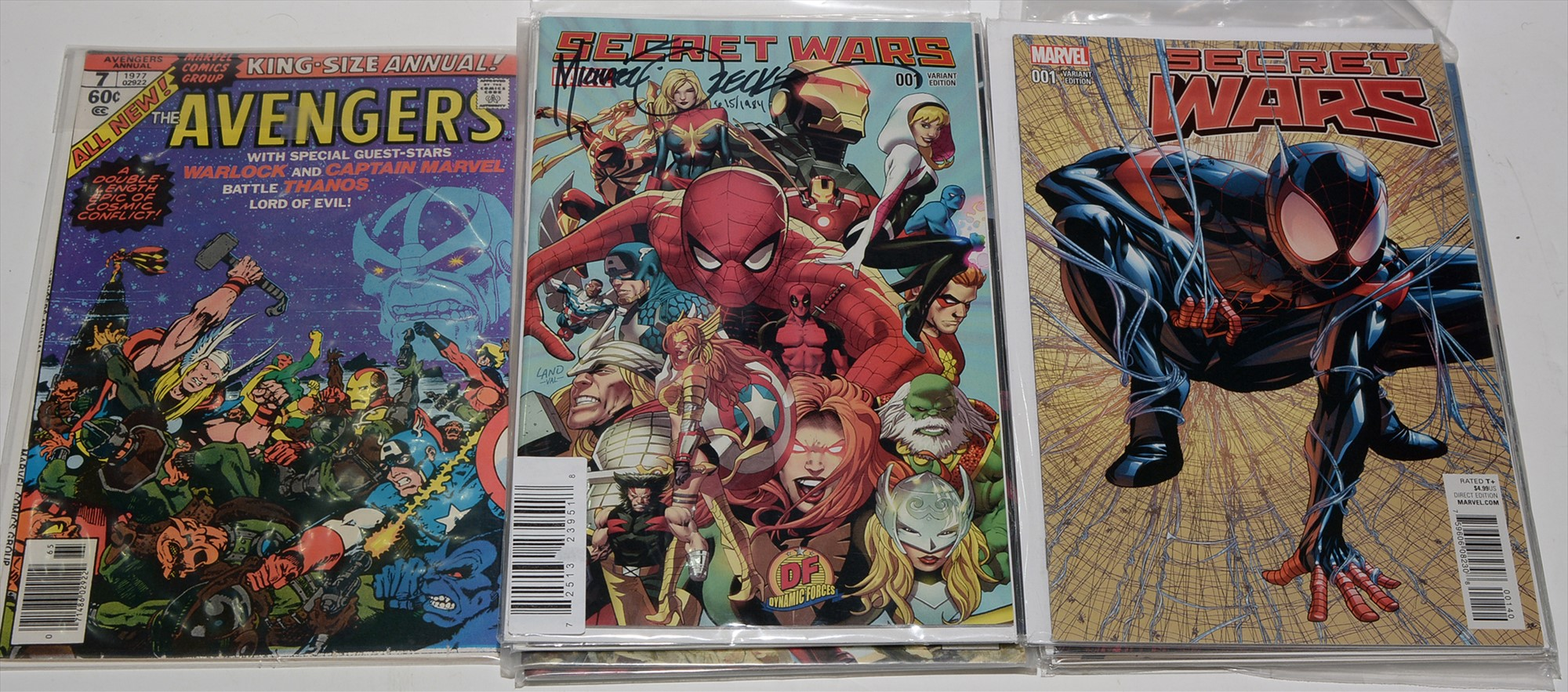 """Secret Wars No. 1 """"Dynamic Forces"""" cover, limited series signed by Mike Zeck, with certificate of"""