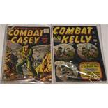 Combat Kelly No's. 5, 11, 23 and 44 (first series Atlas Comics) and Combat Casey No's. 16, 22, 32