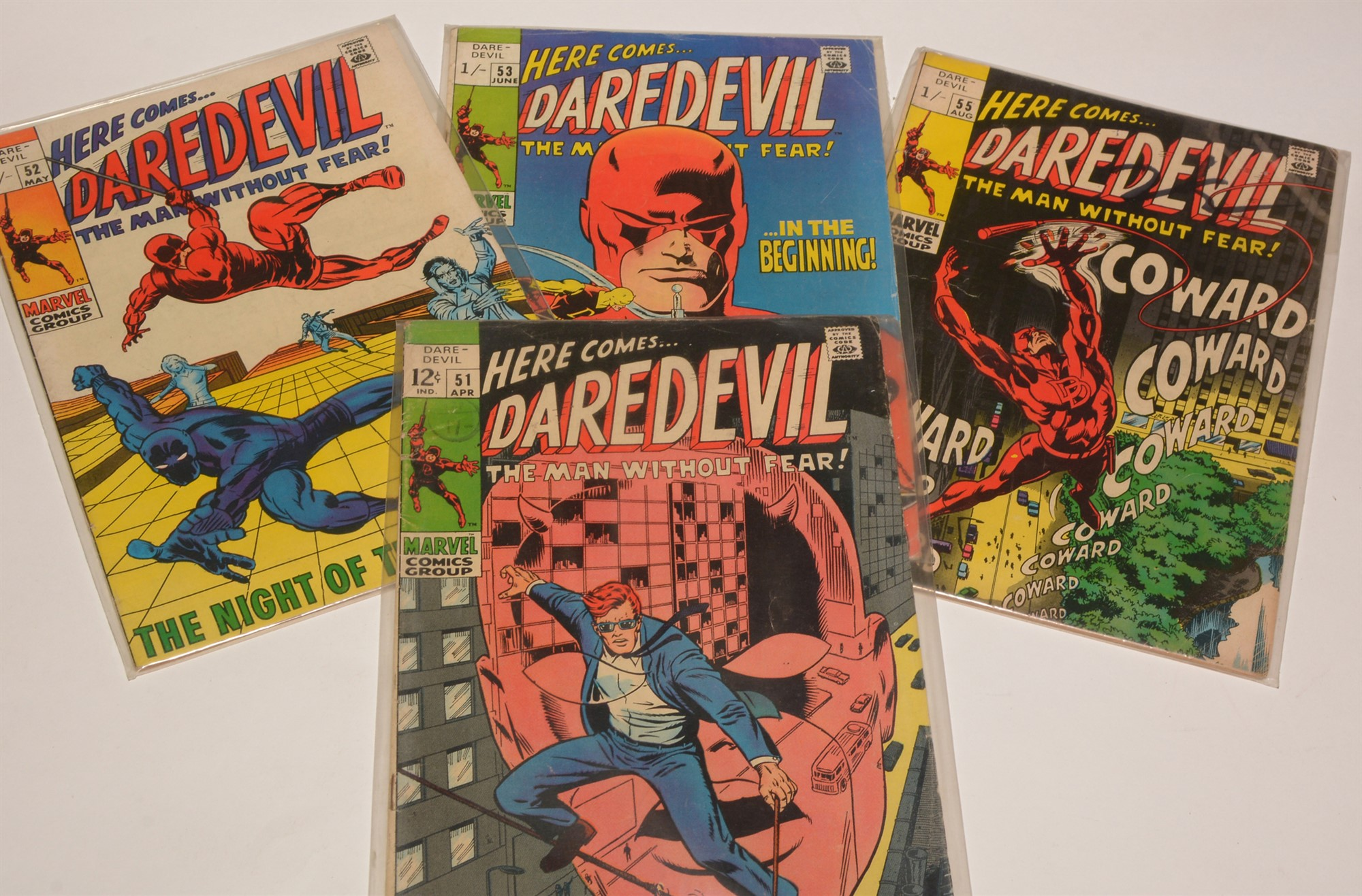 Daredevil No's. 51, 52, 53, 55, 193, 198, 200, 218, 220 and sundry subsequent issues, highest number - Image 2 of 2