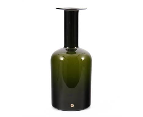 Otto Brauer (1911-1984)Holmegaard, design Otto Brauer, green glass vase, 1960s, 43 cm high